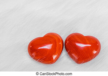 Red hearts symbol of love