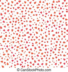Red Hearts Valentines Day Background.