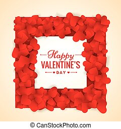 red hearts valentines day frame