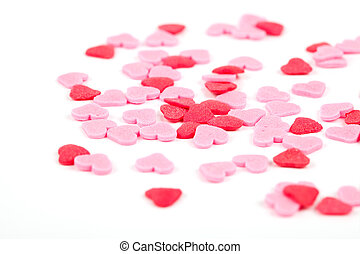 red hearts with white background