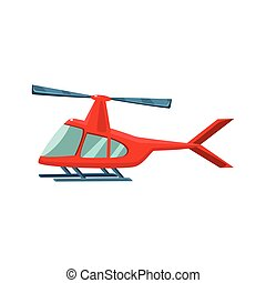 Red Helicopter Toy Aircraft Icon