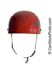 helmet - red helmet close up shoot on white