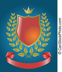 red heraldic symbols