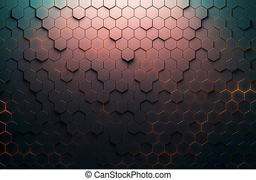 Red hexagon pattern