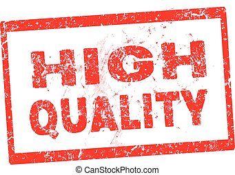 red High quality rubber stamp vector illustration
