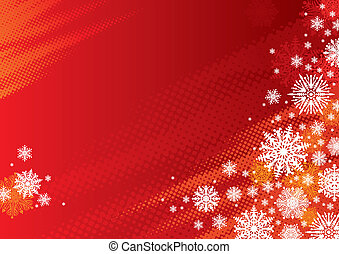Red holidays vector background with snowflakes