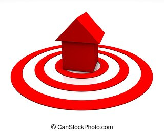 red home icon on white background