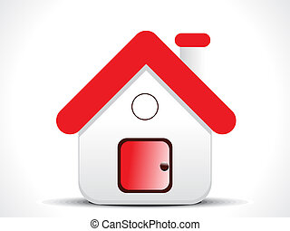 red home icon vector illustration