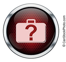 Red honeycomb bag icon
