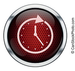 Red honeycomb clock icon