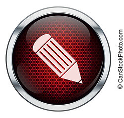 Red honeycomb pen icon
