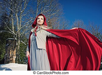 Red Hood with a waving cloak
