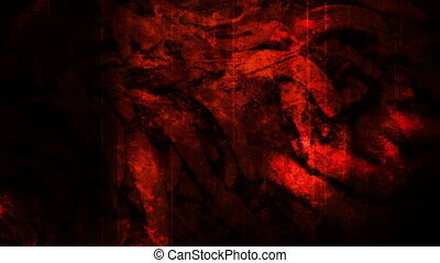 Red horror abstract non looping