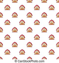 Red horse barn pattern seamless