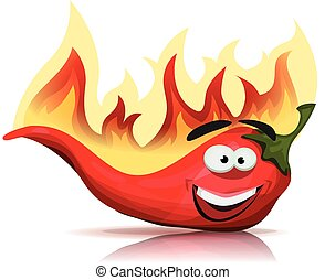 Red Hot Chili Pepper Character With
