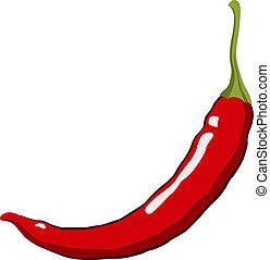 Red Hot Chili Pepper. Vector Illustration