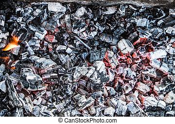Red-hot coal