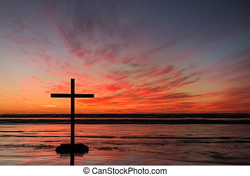 Red Hot Cross Sunset