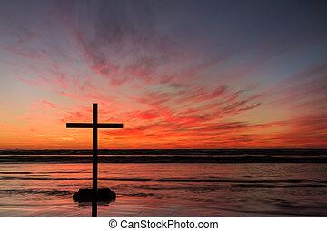 Red Hot Cross Sunset