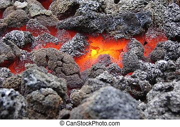 coal - red hot glowing coal
