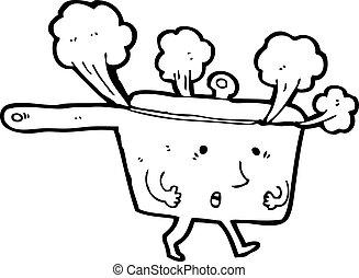 red hot pan cartoon