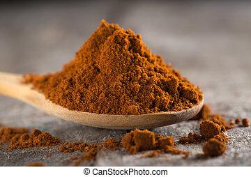 Red hot paprika powder