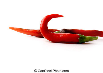 Red hot pepper isolated on white background