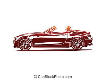 Red hot sport car