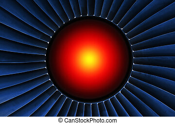 Red Hot - Energy generator with red-hot core in the center.