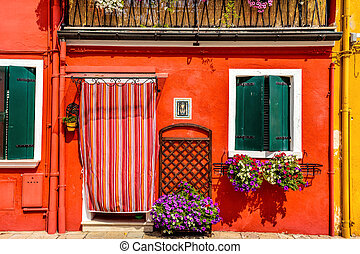 Red house Burano