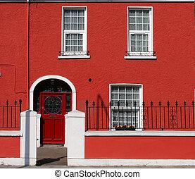 Red house facade