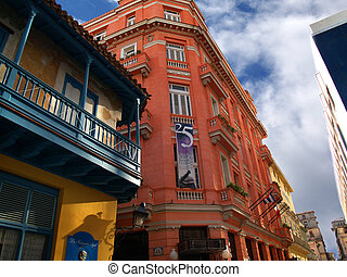 Red house. - House where lodged Hemingway. Havana. Cuba.