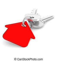 Red house key