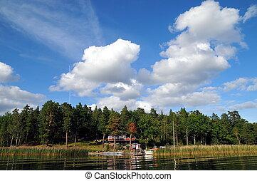 House near the lake