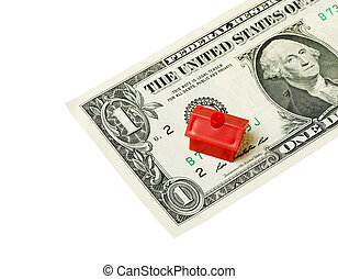 Red house on banknote
