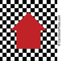 Red house- real estate logo