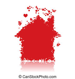 Red house. See also floral style images in my gallery