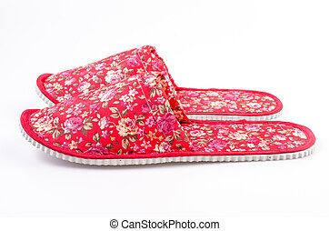 Red House shoes , slippers on isolated white background