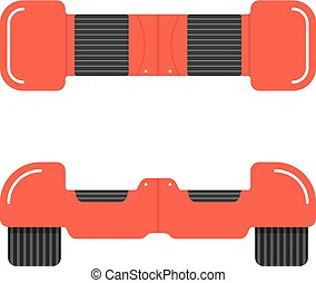 red hoverboard front and top view