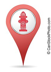 Hydrant location icon - red Hydrant location icon for maps