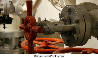 Red hydraulic round equipment for gas