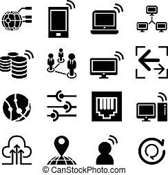 red, idea, concepto, icono