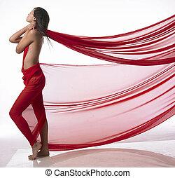 Red imagination - Modern dancer