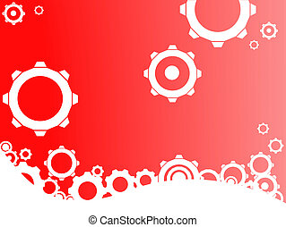 Red Industrial background