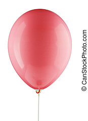 red inflated air balloon
