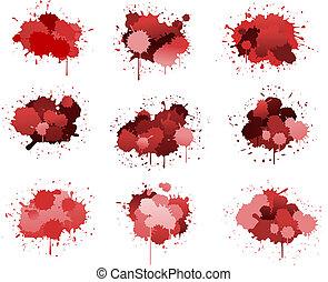 Red ink blobs