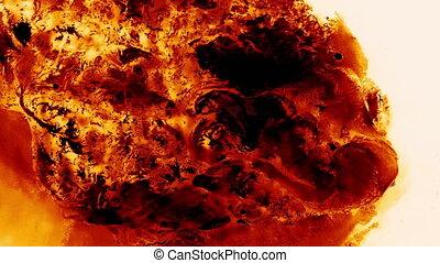 Red Ink Drop Spread Like Fire Lava
