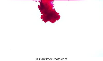 Red ink on a white background HD