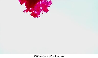 Red ink on a white background
