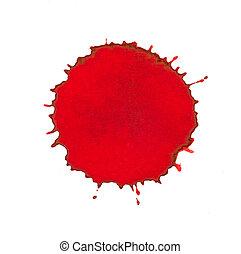Red ink splash